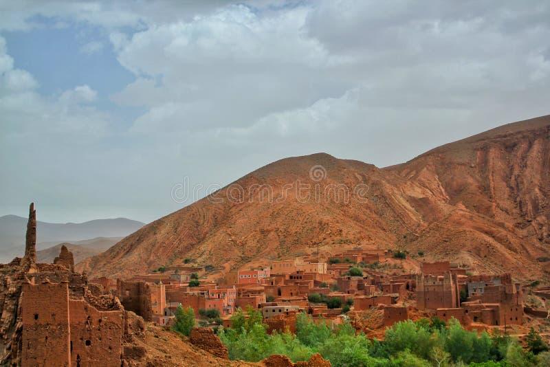 Το χωριό των φαραγγιών Dades στοκ φωτογραφία με δικαίωμα ελεύθερης χρήσης