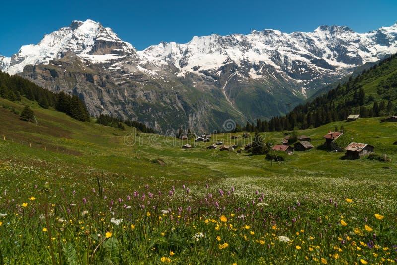 Το χωριό Murren, Ελβετία στοκ εικόνες με δικαίωμα ελεύθερης χρήσης
