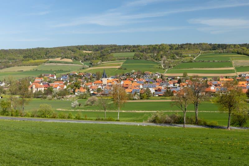 Το χωριό Netra σε Hesse στοκ εικόνα