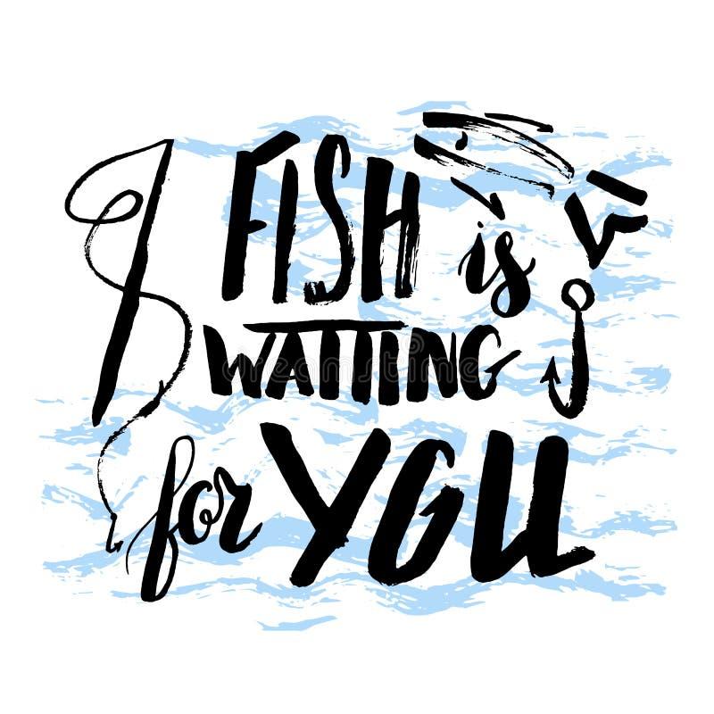 Το ψάρι περιμένει σας στοκ εικόνα