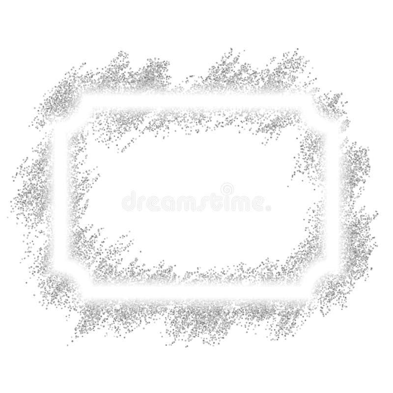 το ψαλίδισμα μιγμάτων περιέχει το ψηφιακό ασήμι γρατσουνιών μονοπατιών πλέγματος απεικόνισης κλίσης πλαισίων Όμορφος ακτινοβολήστ διανυσματική απεικόνιση