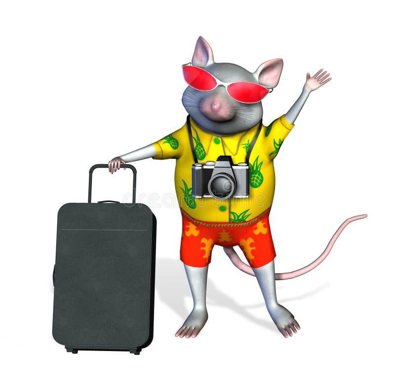 Download το ψαλίδισμα περιλαμβάνει τον τουρίστα μονοπατιών ποντικιών Απεικόνιση αποθεμάτων - εικονογραφία από vacationer, βαλίτσα: 386302