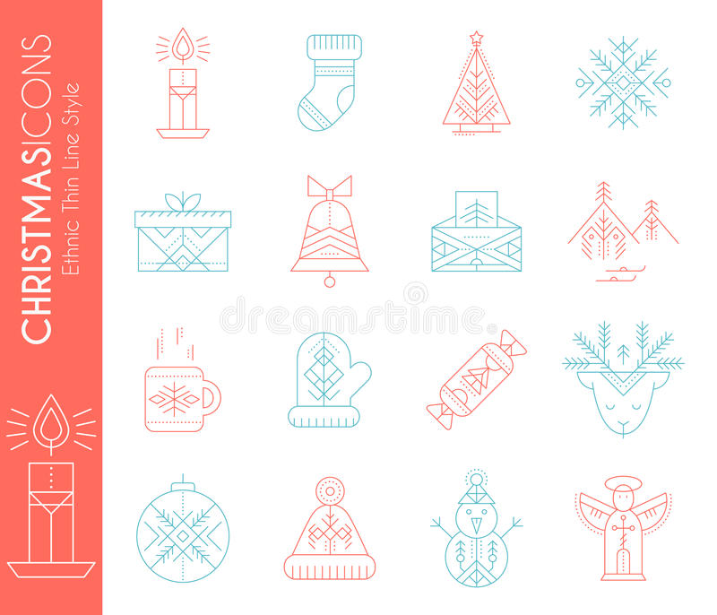 το ψαλίδισμα Χριστουγέννων περιέχει τα ψηφιακά μονοπάτια απεικόνισης εικονιδίων που τίθενται Συλλογή των δημιουργικών στοιχείων σ ελεύθερη απεικόνιση δικαιώματος