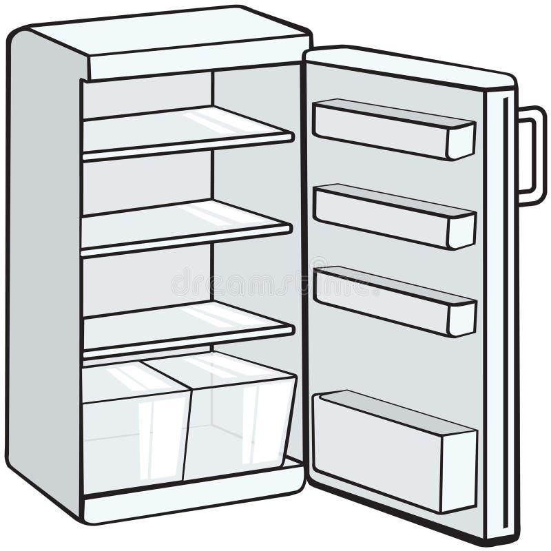 το ψυγείο άνοιξε το λε&upsilon ελεύθερη απεικόνιση δικαιώματος