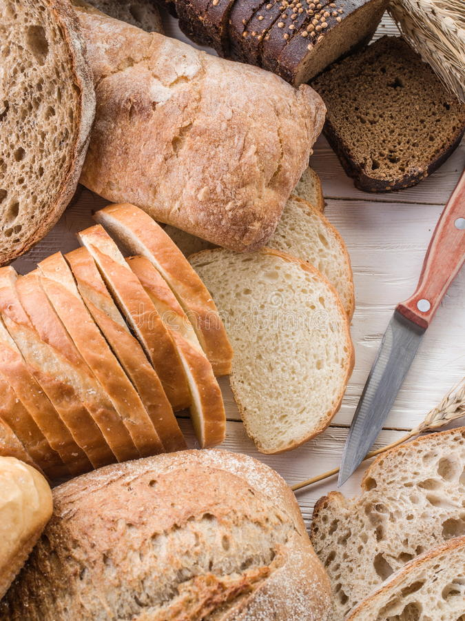 Το ψωμί και ένας σίτος στοκ φωτογραφίες