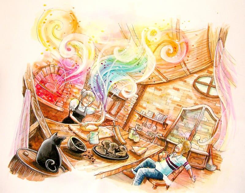 το ψωμί ουράνιων τόξων παραμυθιού ζυμώνει την απεικόνιση απεικόνιση αποθεμάτων
