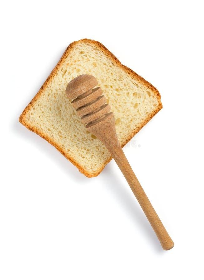 το ψωμί τεμάχισε το λευκό στοκ φωτογραφία