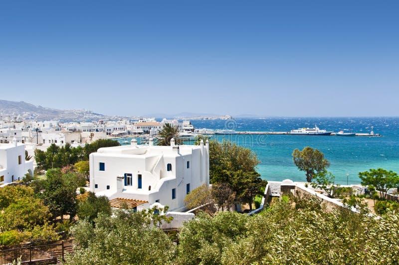 Το όμορφο ελληνικό νησί, Mykonos στοκ φωτογραφία