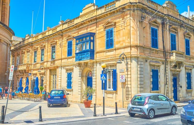 Το όμορφο ιστορικό οικοδόμημα σε Mosta, Μάλτα στοκ εικόνες