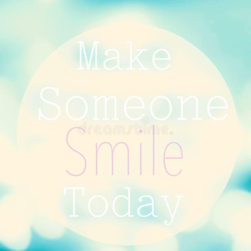 Το όμορφο κινητήριο απόσπασμα με το μήνυμα κάνει κάποιο να χαμογελάσει στοκ φωτογραφίες με δικαίωμα ελεύθερης χρήσης