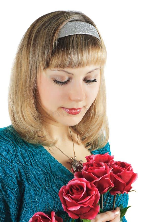 Download το όμορφο κορίτσι ανθοδ&epsil Στοκ Εικόνα - εικόνα από κάνετε, διασκέδαση: 13186927