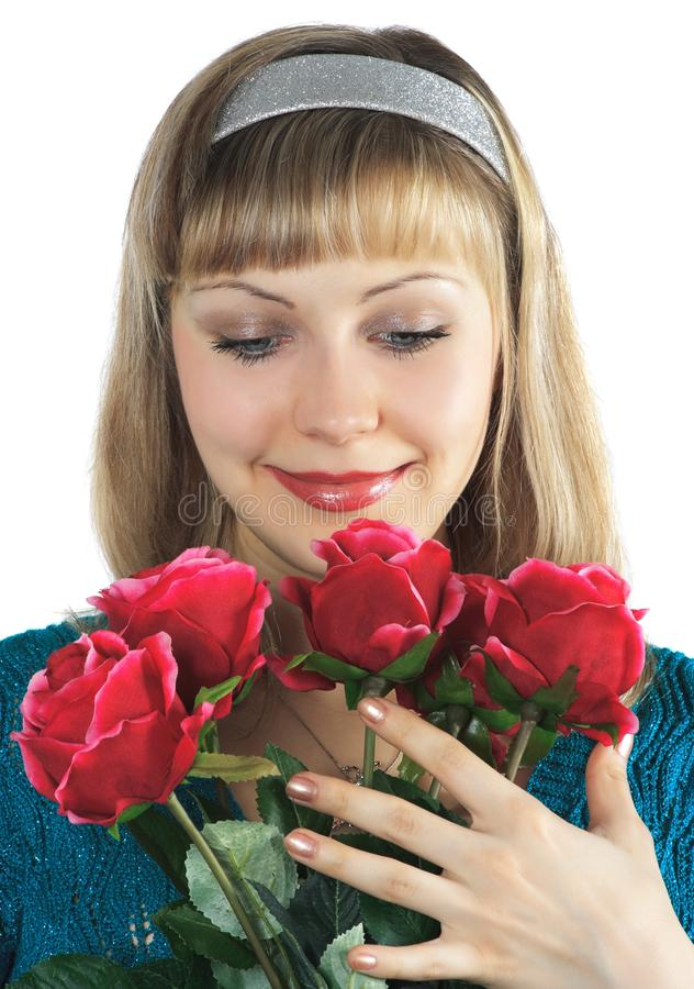 Download το όμορφο κορίτσι ανθοδ&epsil Στοκ Εικόνα - εικόνα από μοντέλο, τρίχωμα: 13186991