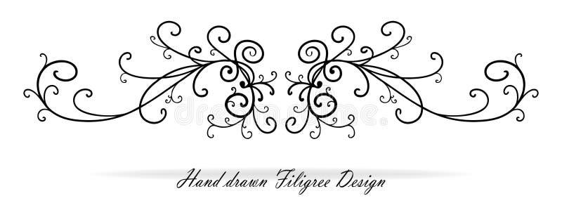 Το όμορφο φανταχτερό σχέδιο, η παράγραφος ή το κείμενο κυλίνδρων υπογραμμίζουν, στοιχείο γαμήλιου σχεδίου απεικόνιση αποθεμάτων