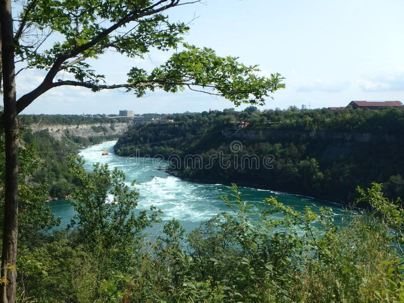 Το όμορφο φαράγγι Niagara στοκ φωτογραφία