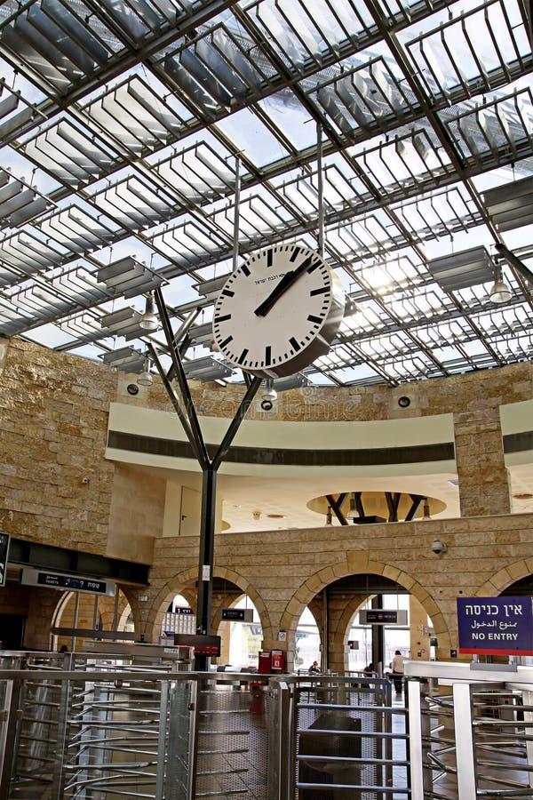 Το λόμπι του σιδηροδρομικού σταθμού σε Be'er Sheva στοκ φωτογραφίες