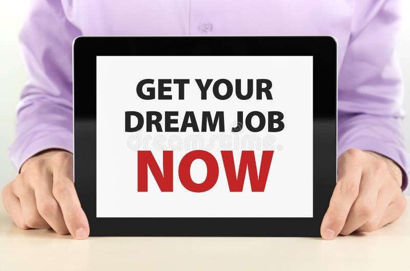 το όνειρο παίρνει την εργασία τώρα σας στοκ φωτογραφίες