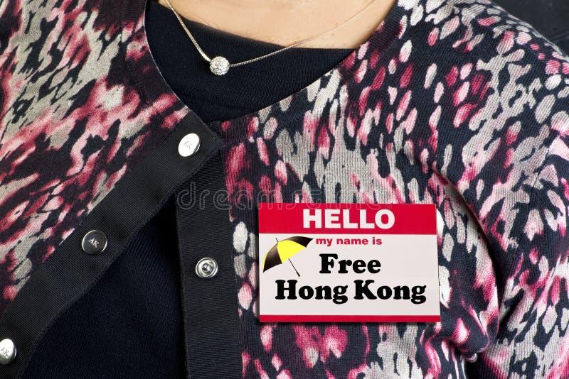Το όνομα του Μαΐου είναι, Free Hong Kong στοκ εικόνα