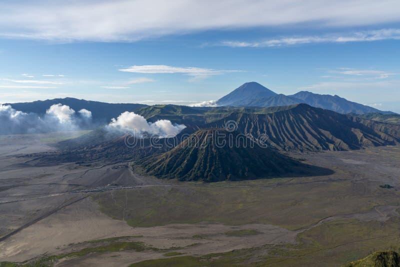 Το όρος Bromo Tengger Semeru βρίσκεται στο Malang Lumajang Pasuruan Probolinggo East Java Indonesia στοκ εικόνα με δικαίωμα ελεύθερης χρήσης