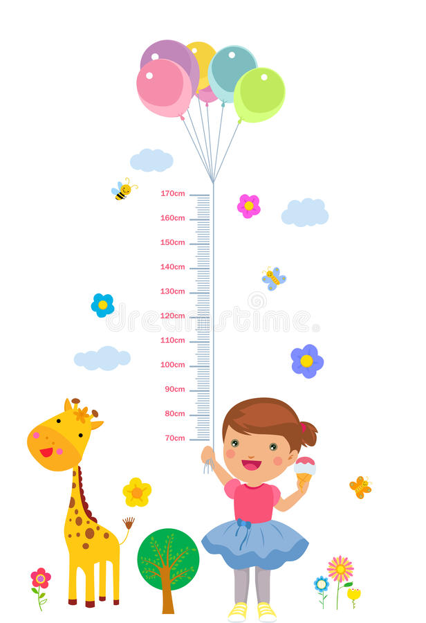 Το ύψος παιδιών ` s ελεύθερη απεικόνιση δικαιώματος