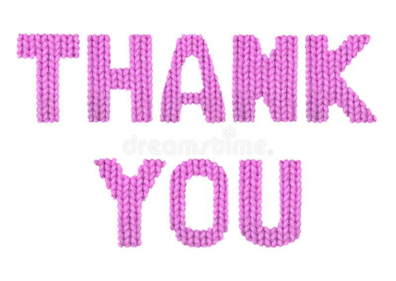 το δώρο καρτών που απομονώνεται άσπρο ευχαριστεί εσείς Ροζ χρώματος στοκ φωτογραφίες