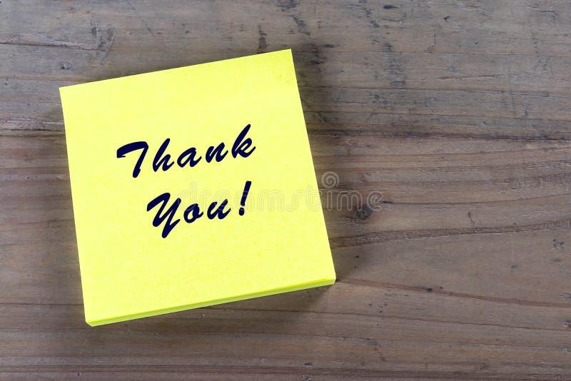 το δώρο καρτών που απομονώνεται άσπρο ευχαριστεί εσείς στοκ εικόνα