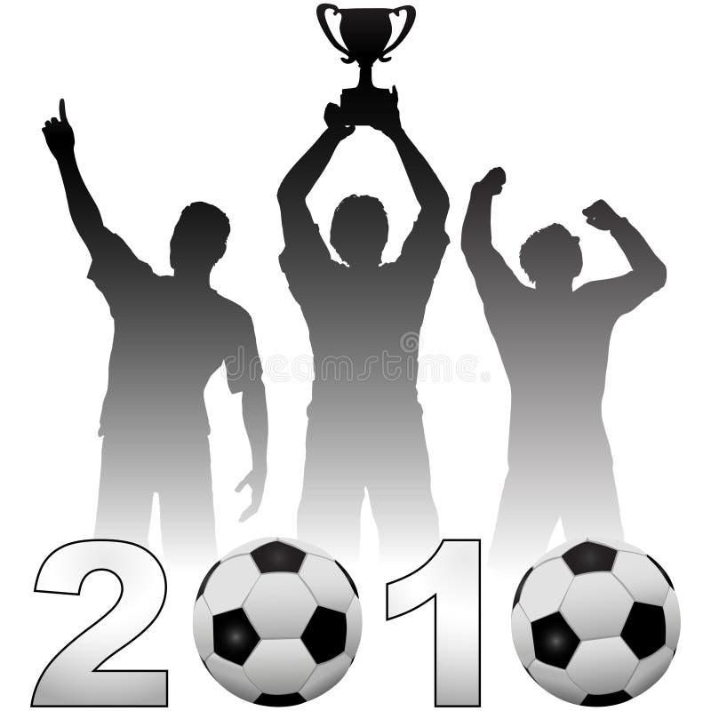 το 2010 γιορτάζει το ποδόσφα διανυσματική απεικόνιση