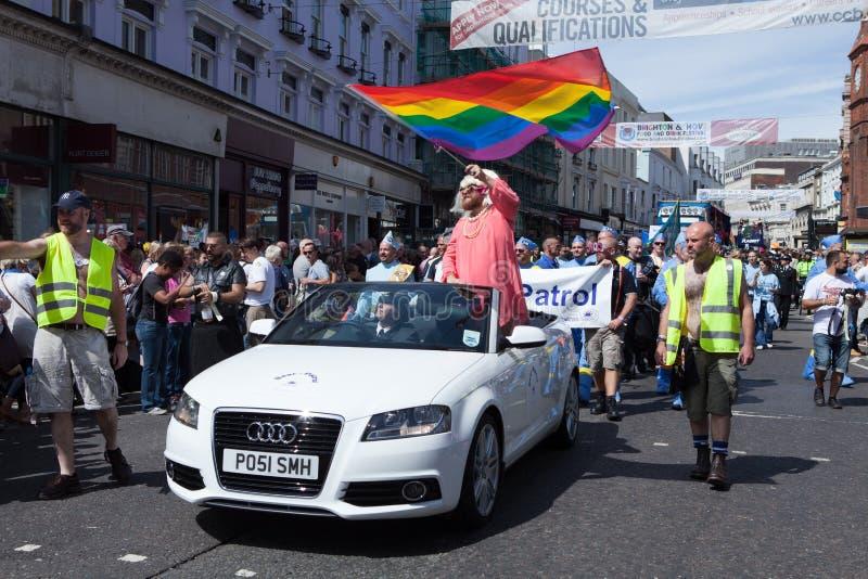 το 2011 αντέχει την ομοφυλοφιλική υπερηφάνεια περιπόλου του Μπράιτον στοκ φωτογραφία