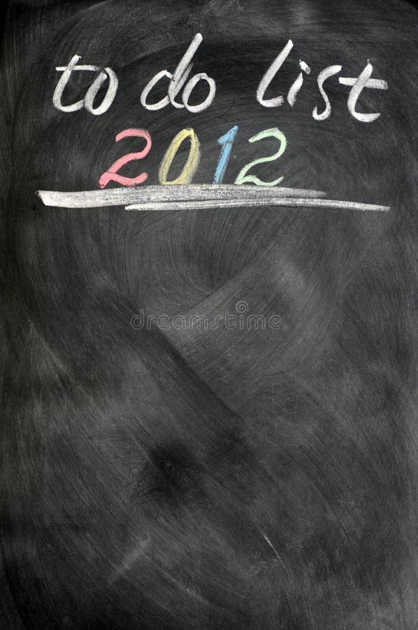 Download το 2012 εμφανίζει λίστα στοκ εικόνα. εικόνα από επιχείρηση - 22798307