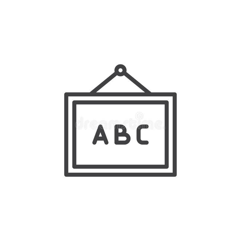 Το Abc whiteboard περιγράφει το εικονίδιο ελεύθερη απεικόνιση δικαιώματος