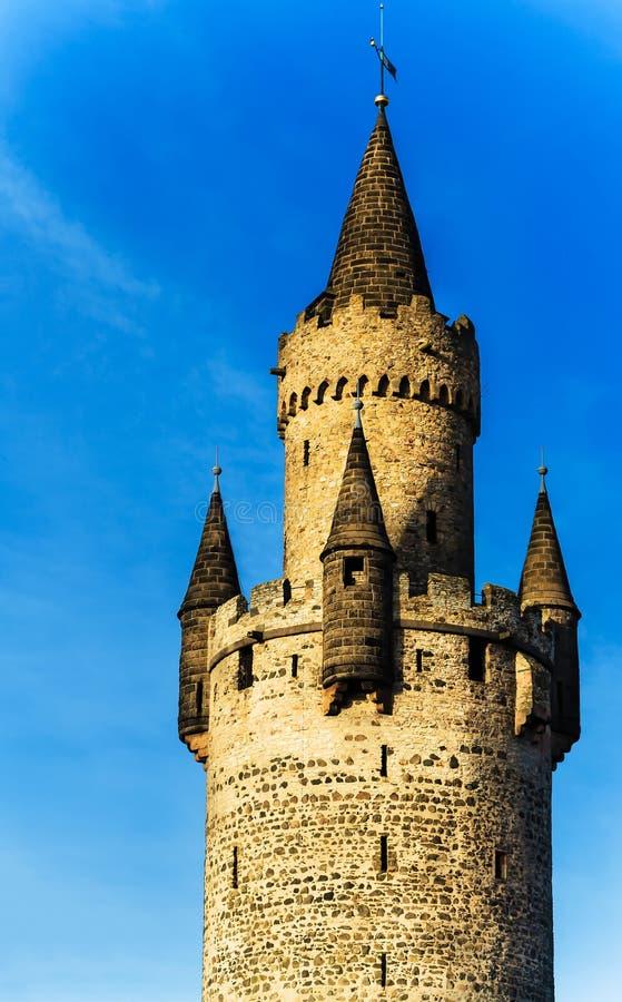 Το Adolfsturm (πύργος καρδαριών) σε Friedberg Hesse, Γερμανία στοκ εικόνες
