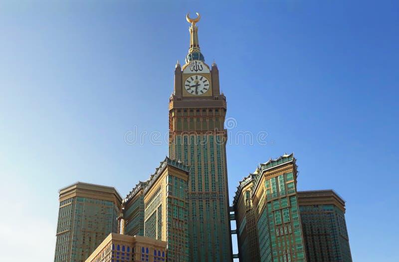 Το Al-δόλωμα Abraj που μεταφράζεται ως ` τους πύργους της Βουλής ` είναι ένα κρατικό megatall σύνθετο επτά ξενοδοχείων ουρανοξυστ στοκ εικόνα με δικαίωμα ελεύθερης χρήσης