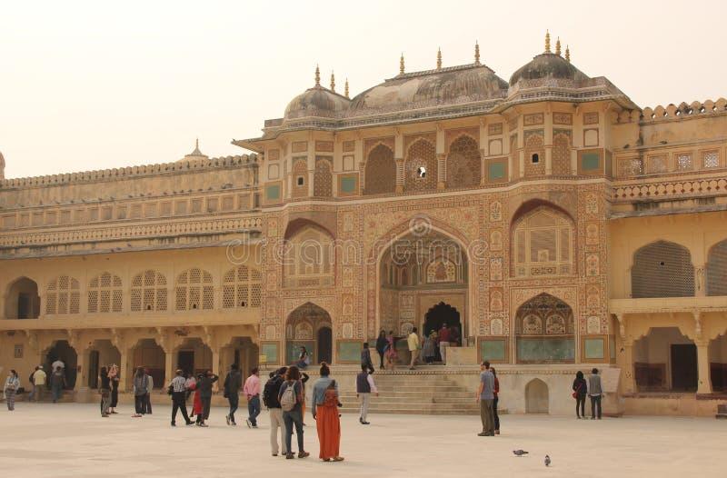 Το Amer οχυρό του Jaipur στοκ εικόνα