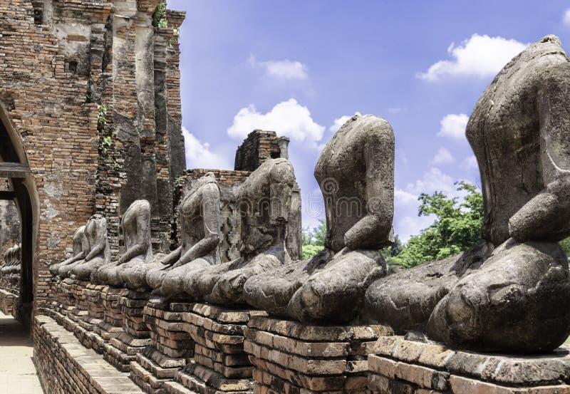 Το Archaelogical παραμένει της αρχαίας πόλης Ayutthaya, Ταϊλάνδη Περιοχή παγκόσμιων κληρονομιών στοκ φωτογραφία με δικαίωμα ελεύθερης χρήσης