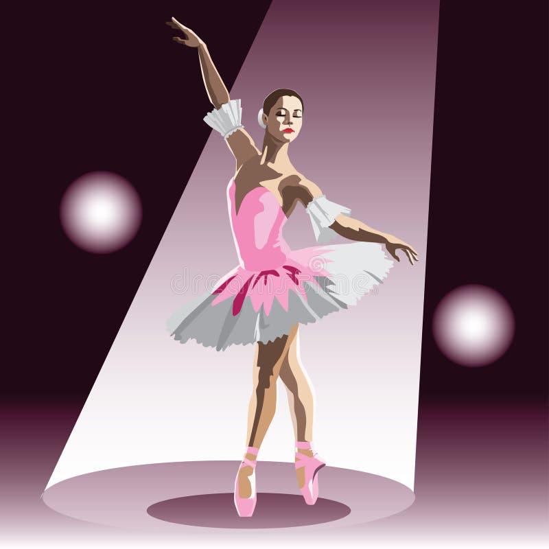 Το ballerina διανυσματική απεικόνιση