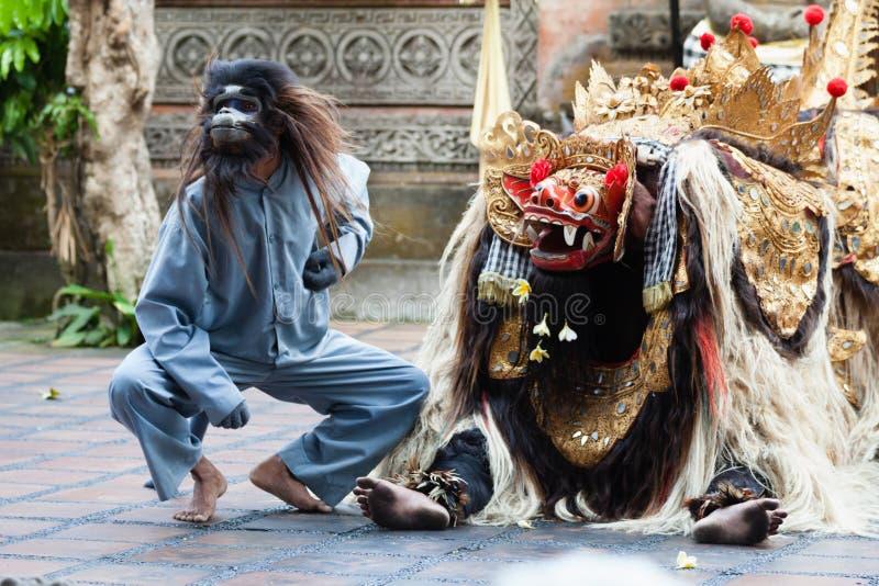 Το Barong και ο χορός της Kris εκτελούν, Μπαλί, Ινδονησία στοκ φωτογραφίες