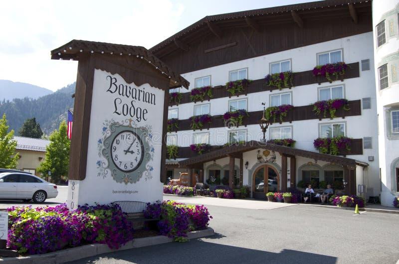 Το Barvarian κατοικεί τη γερμανική πόλη Leavenworth στοκ εικόνες με δικαίωμα ελεύθερης χρήσης