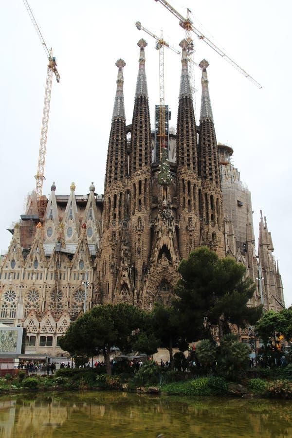 Το BasÃlica ι Λα Sagrada FamÃlia, Βαρκελώνη Expiatori de ναών στοκ εικόνα με δικαίωμα ελεύθερης χρήσης