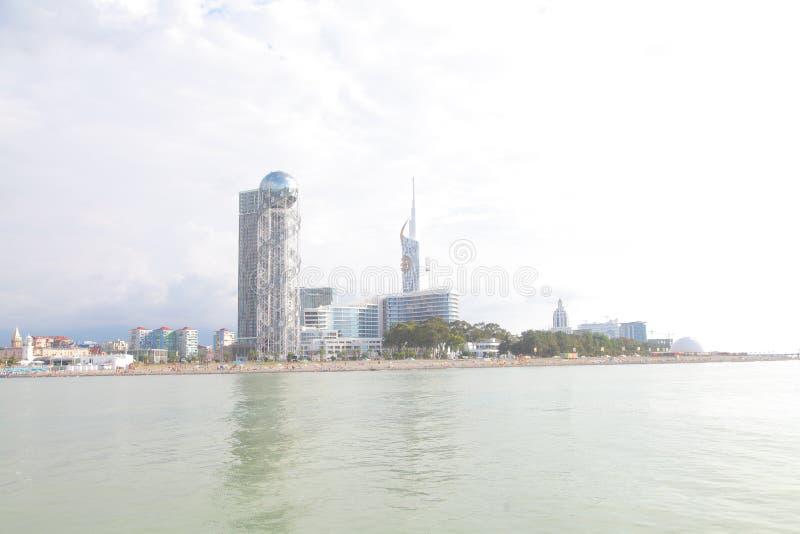 Το Batumi είναι η πρωτεύουσα της αυτόνομης Δημοκρατίας Adjara και της δεύτερης μεγαλύτερης πόλης της Γεωργίας στοκ εικόνα με δικαίωμα ελεύθερης χρήσης