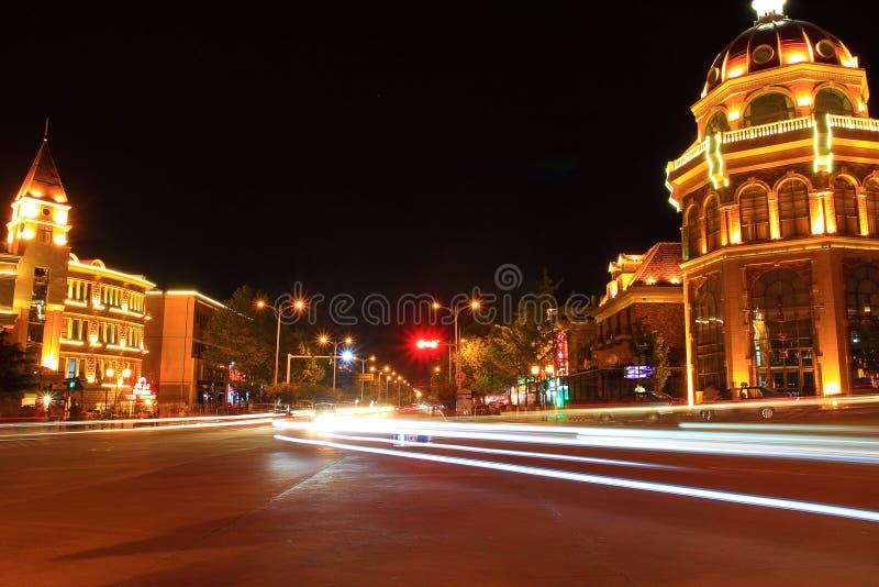 Το Beidaihe είναι όμορφο τη νύχτα στοκ φωτογραφίες με δικαίωμα ελεύθερης χρήσης