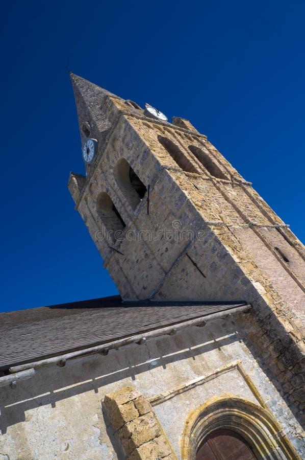 Το belltower της εκκλησίας της Notre-Dame στον τάφο Λα, Γαλλία στοκ φωτογραφία με δικαίωμα ελεύθερης χρήσης