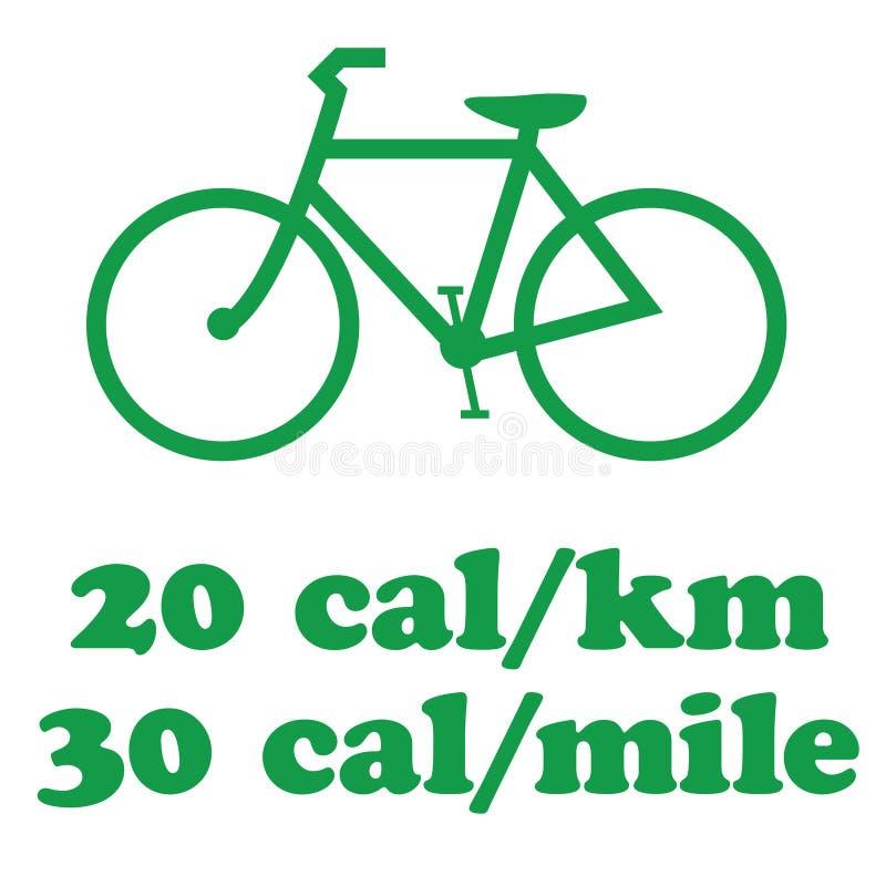 Το Biking πηγαίνει πράσινο διανυσματική απεικόνιση
