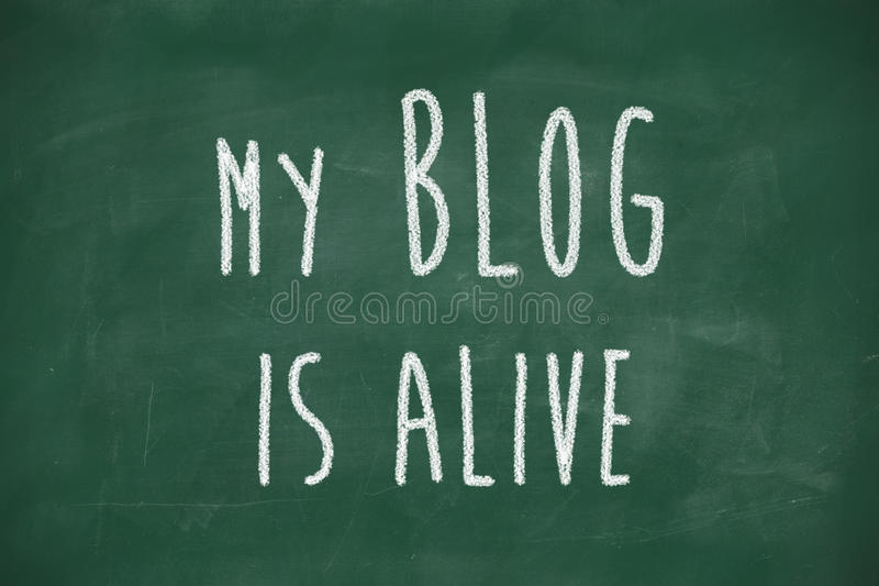 Το blog μου είναι ζωντανή φράση διανυσματική απεικόνιση