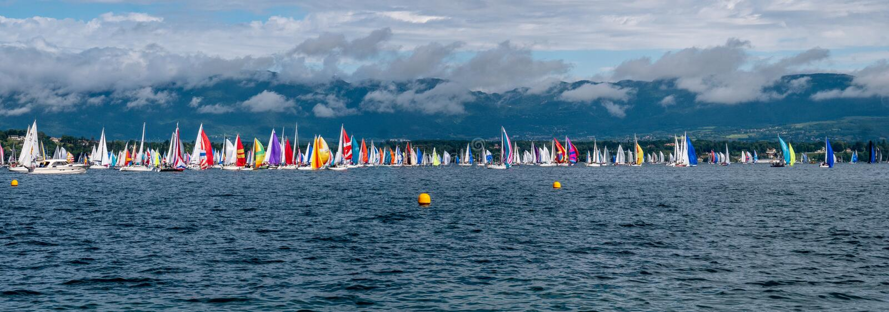 Το Bol d'Or Mirabaud είναι το σημαντικότερο εσωτερικό regatta λιμνών στον κόσμο στοκ φωτογραφίες με δικαίωμα ελεύθερης χρήσης