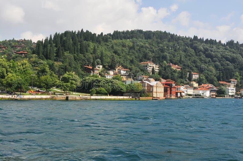 Το Bosphorus είναι ένα στενό που συνδέει τη Μαύρη Θάλασσα με τη θάλασσα Marmara στην Τουρκία στοκ εικόνες
