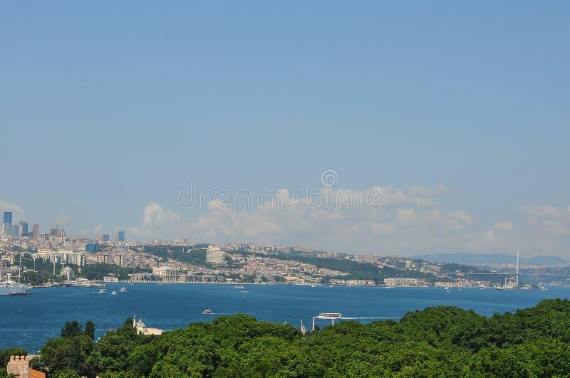 Το Bosphorus είναι ένα στενό που συνδέει τη Μαύρη Θάλασσα με τη θάλασσα Marmara στην Τουρκία στοκ εικόνα με δικαίωμα ελεύθερης χρήσης
