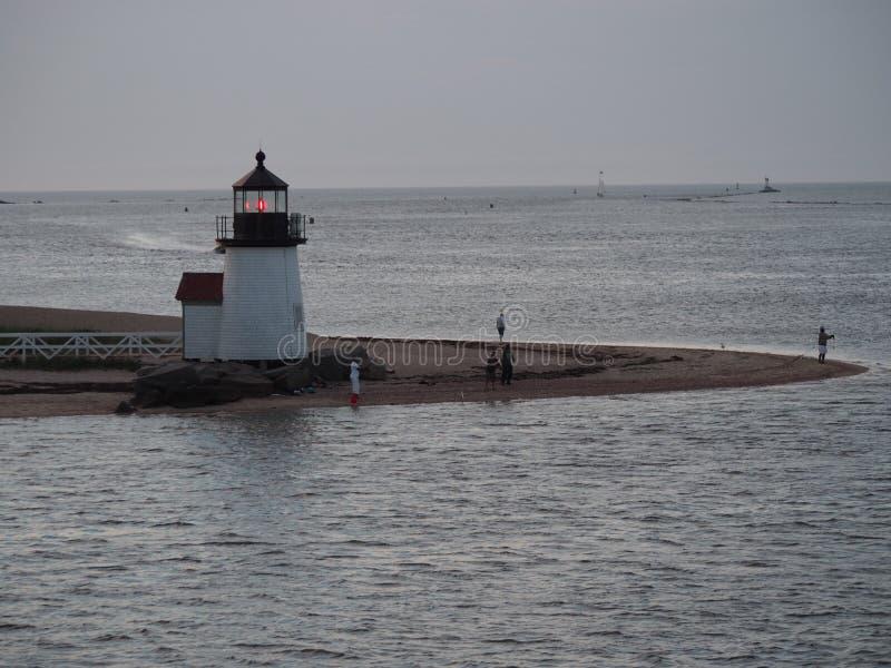 Το Brant φως σημείου στο σούρουπο, νησί Nantucket στοκ φωτογραφίες με δικαίωμα ελεύθερης χρήσης
