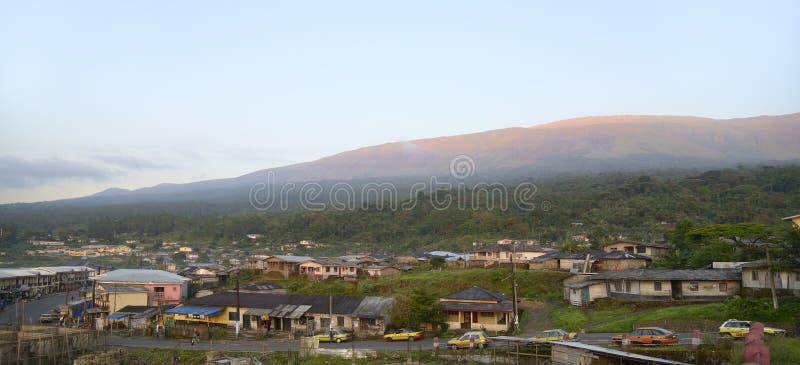 Το Buea επικολλά το Καμερούν, πρωί στοκ εικόνα με δικαίωμα ελεύθερης χρήσης
