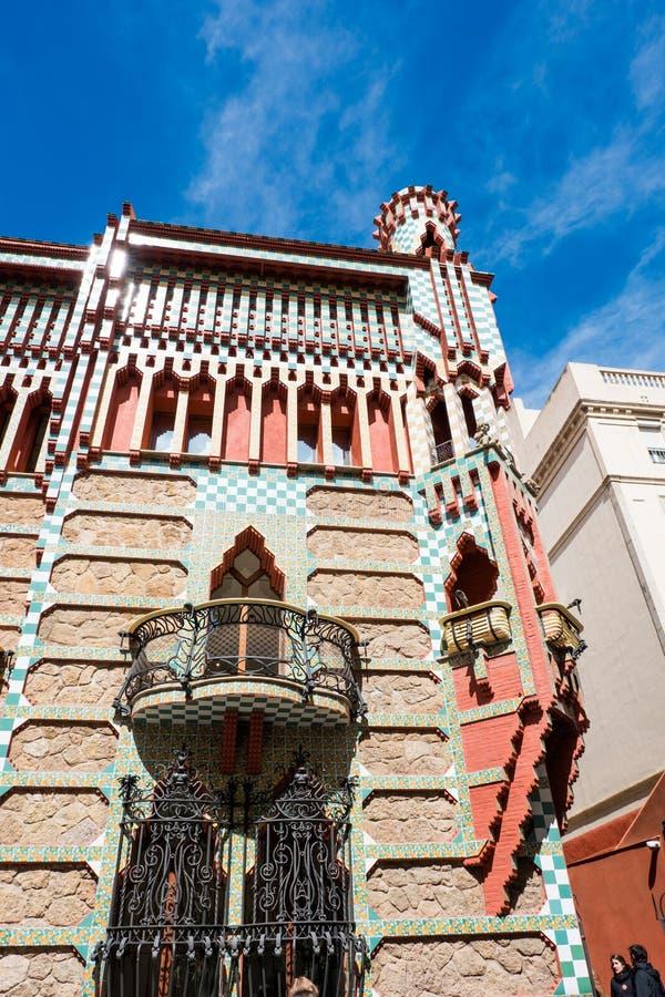 Το Casa Vicens είναι ένα σπίτι στη Βαρκελώνη, που σχεδιάζεται από το Antoni Gaudà στοκ εικόνα με δικαίωμα ελεύθερης χρήσης