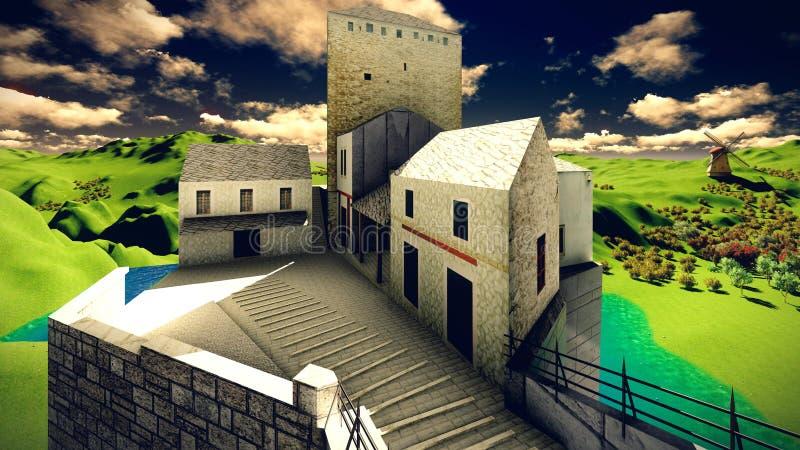 Το Castle δένει διανυσματική απεικόνιση