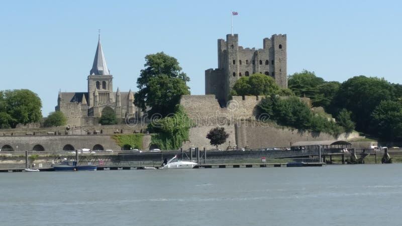 Το Castle είναι στο UK και έχει τους καθεδρικούς ναούς στοκ φωτογραφίες